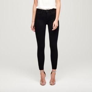 L'AGENCE Margot High Rise Skinny Jeans (Noir)